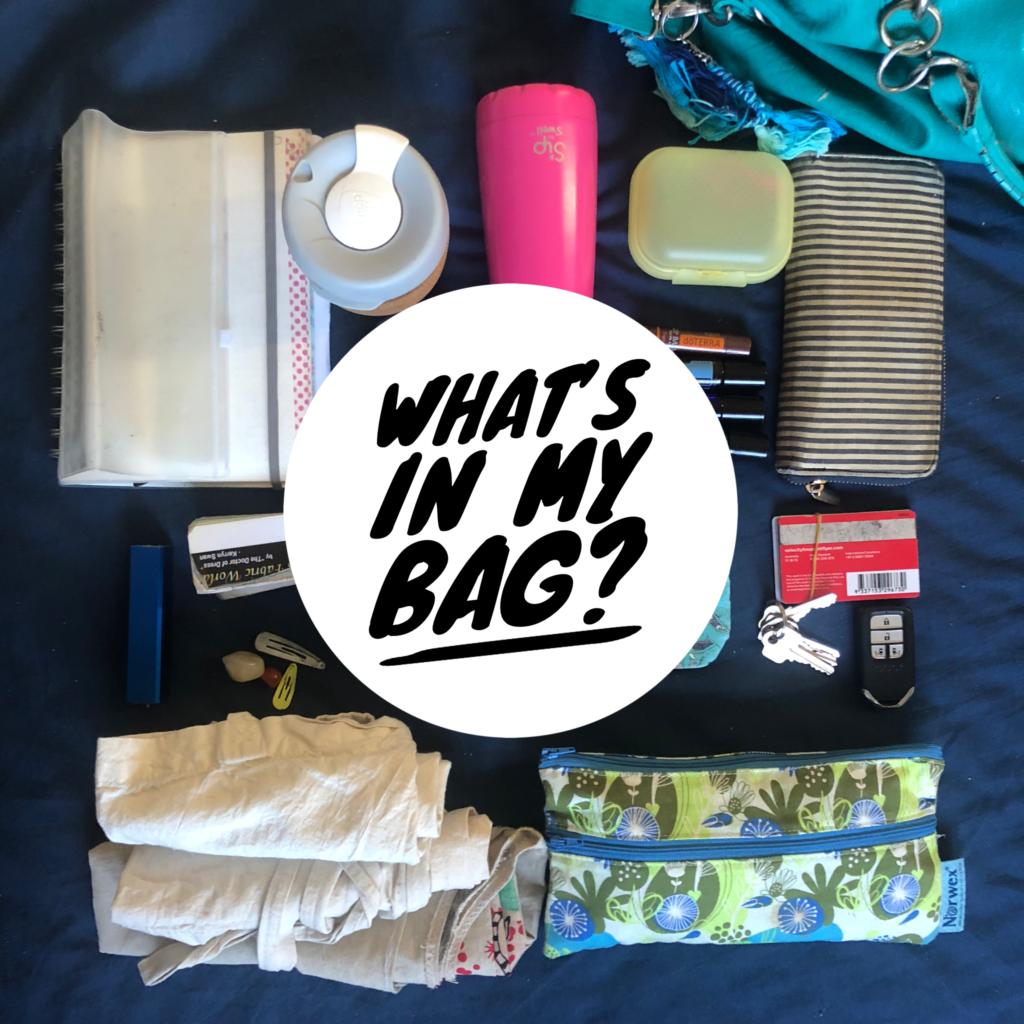 what's in my bag? zero waste, sahm