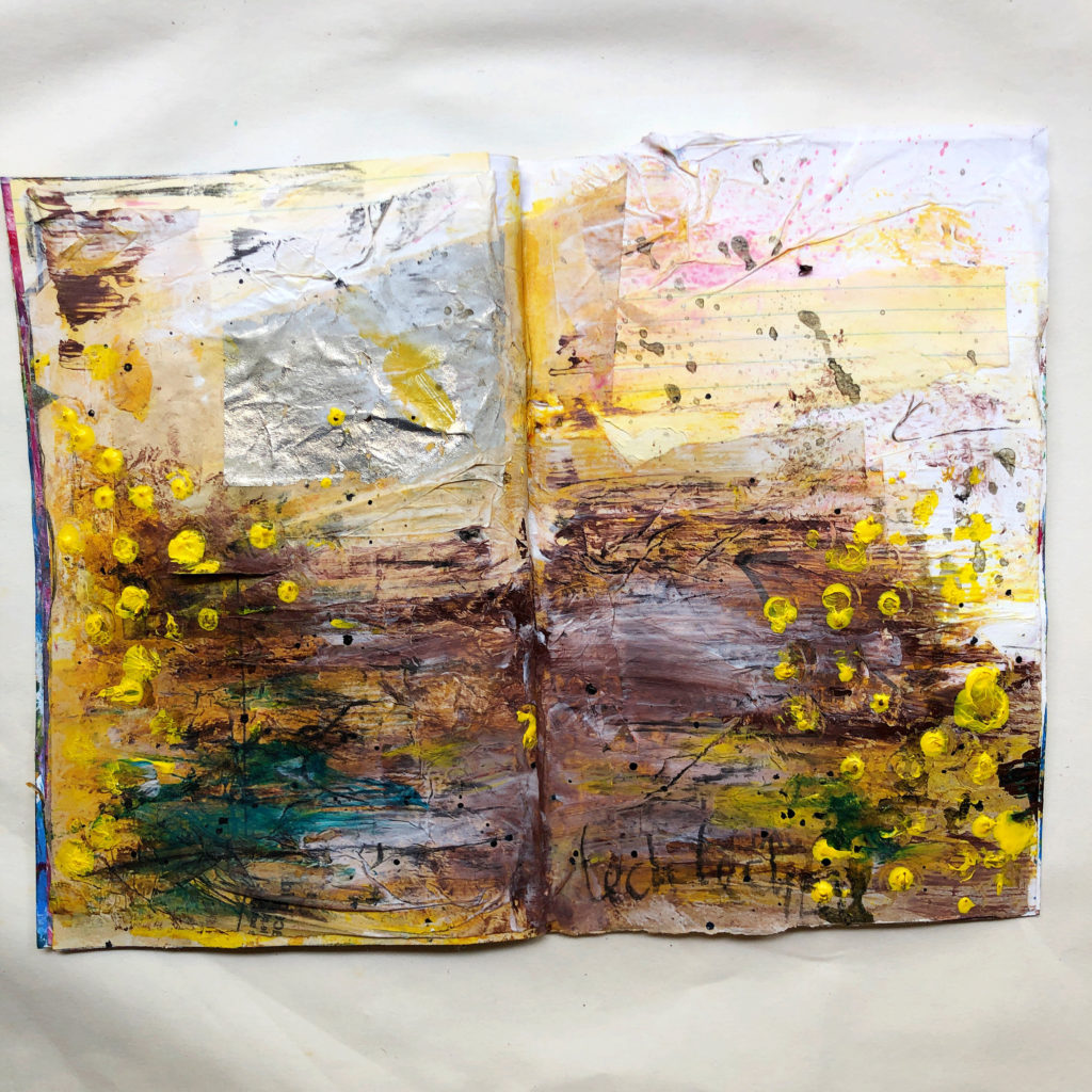art journal page of parsha Lech-lecha